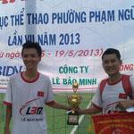 Đội bóng Lê Bảo Minh giành Cup vô địch giải bóng đá Phường Phạm Ngũ Lão, Q1