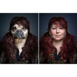 Chó được chụp ảnh chân dung như chủ nhân