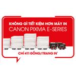 Không gì tiết kiệm hơn máy in Canon PIXMA E-series