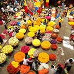 Khu chợ rực rỡ sắc màu nhất thế giới
