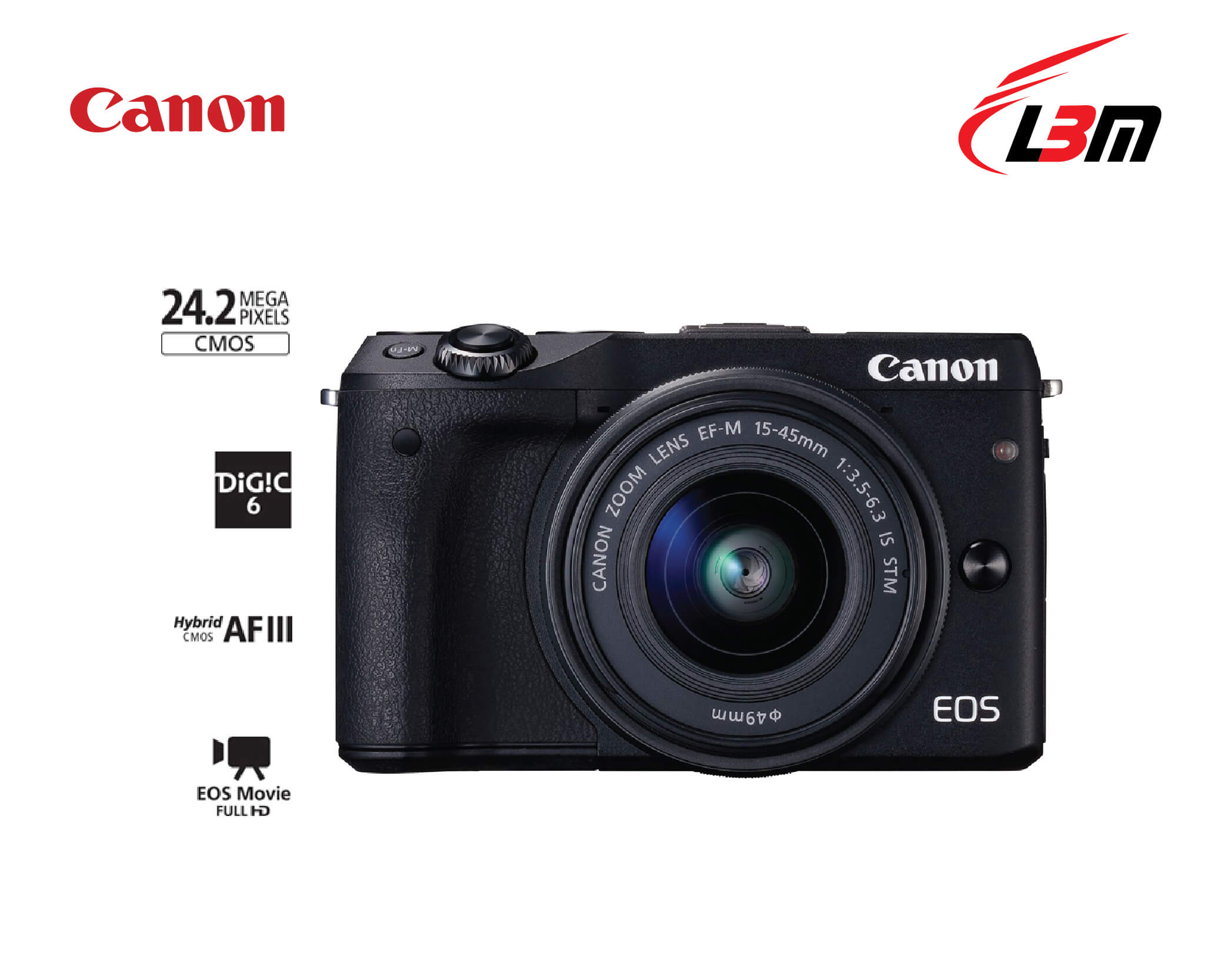 EOS M3 Kit (EF-M15-45 IS STM)