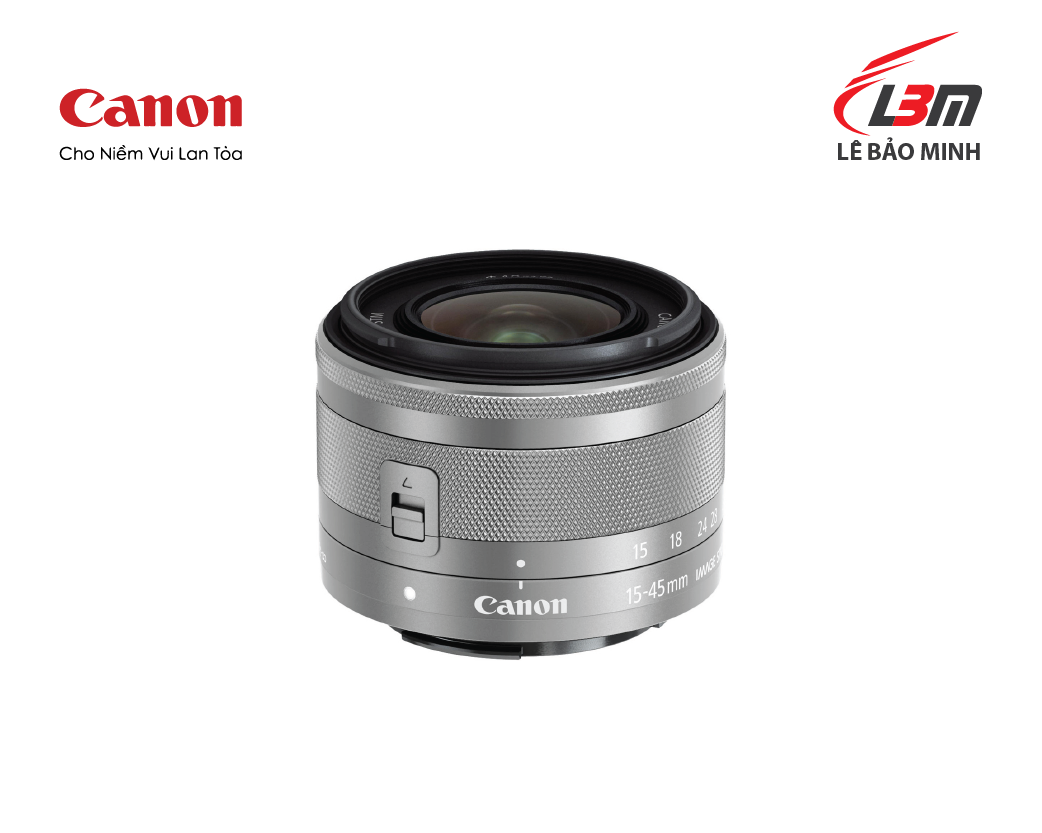 Ống Kính CANON EF-M15-45mm f/3.5-6.3 IS STM – Silver