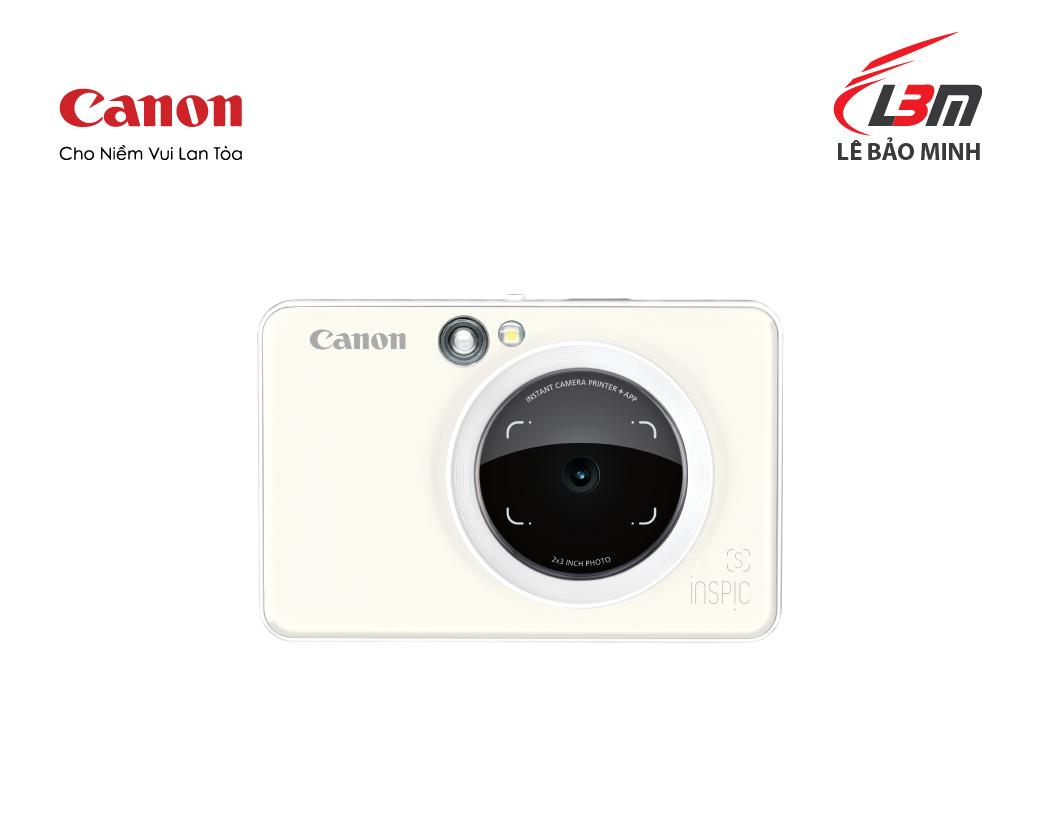 Máy ảnh Canon có in ảnh ngay ZV-123 (đen, trắng , hồng nâu)