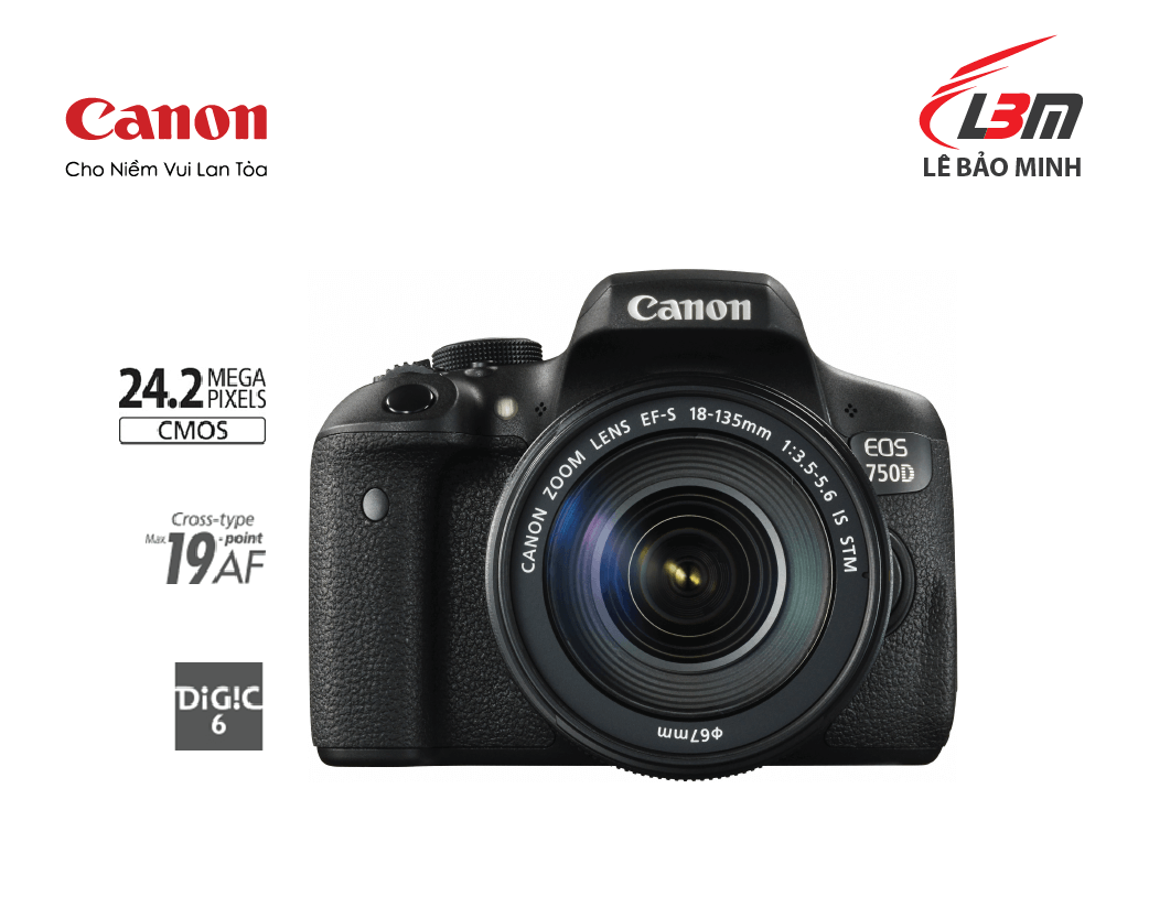 EOS 750D KIT II (EF-S 18-135 IS STM)