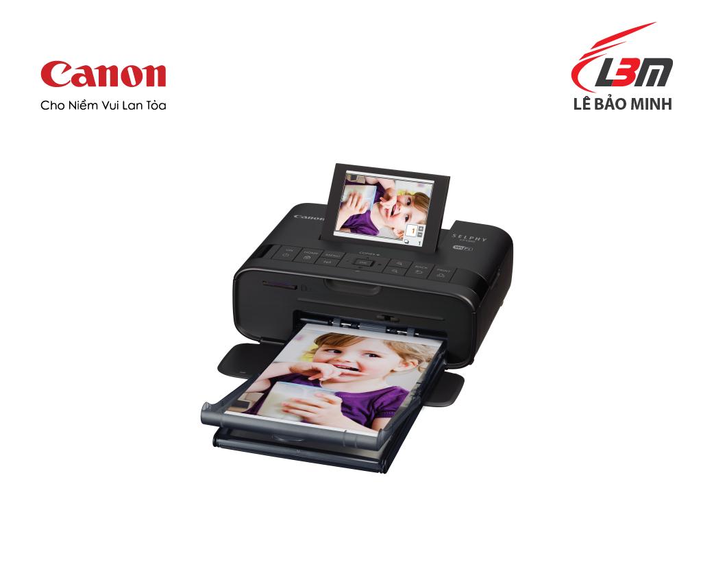 Máy in ảnh Canon CP1300 (đen, trắng, hồng)