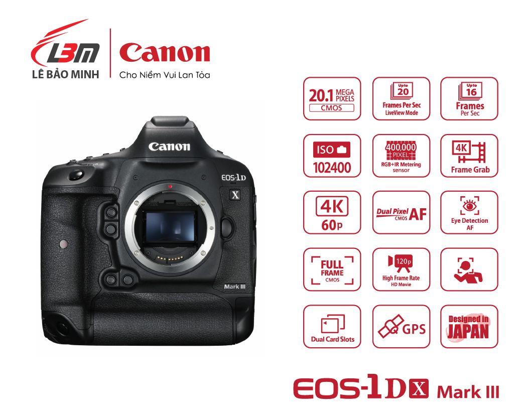 Máy ảnh Canon EOS 1DX Mk III Body