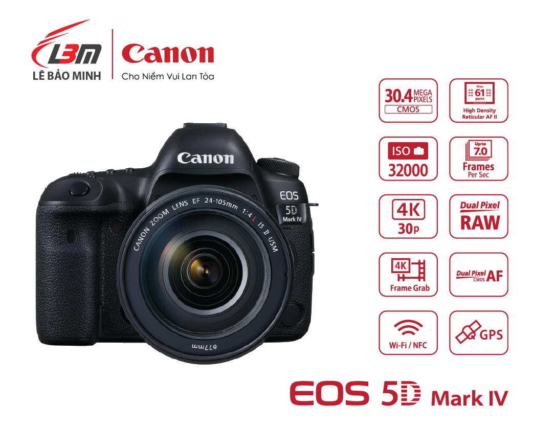 Máy ảnh Canon EOS 5D Mk IV Kit 24-105mm L IS II USM