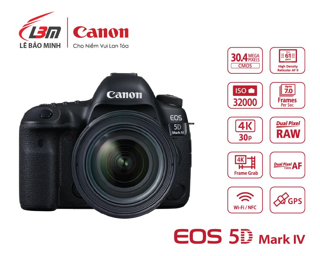 Máy ảnh Canon EOS 5D Mk IV Kit 24-70mm L IS USM