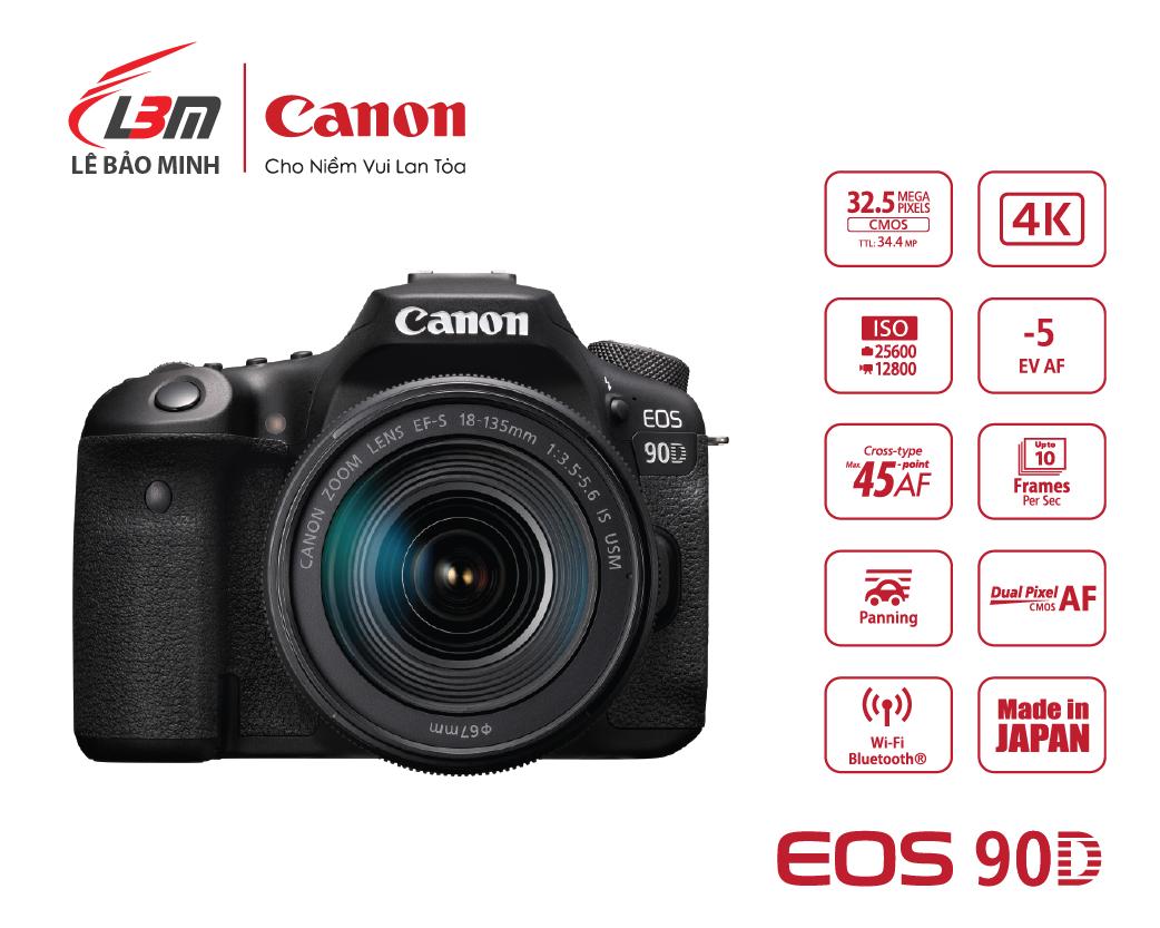 Máy ảnh Canon EOS 90D kit 18-135mm