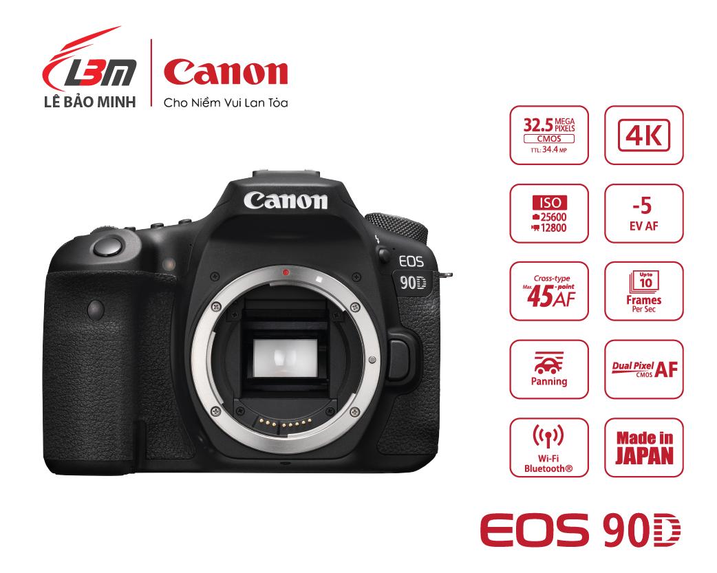 Máy ảnh Canon EOS 90D Body