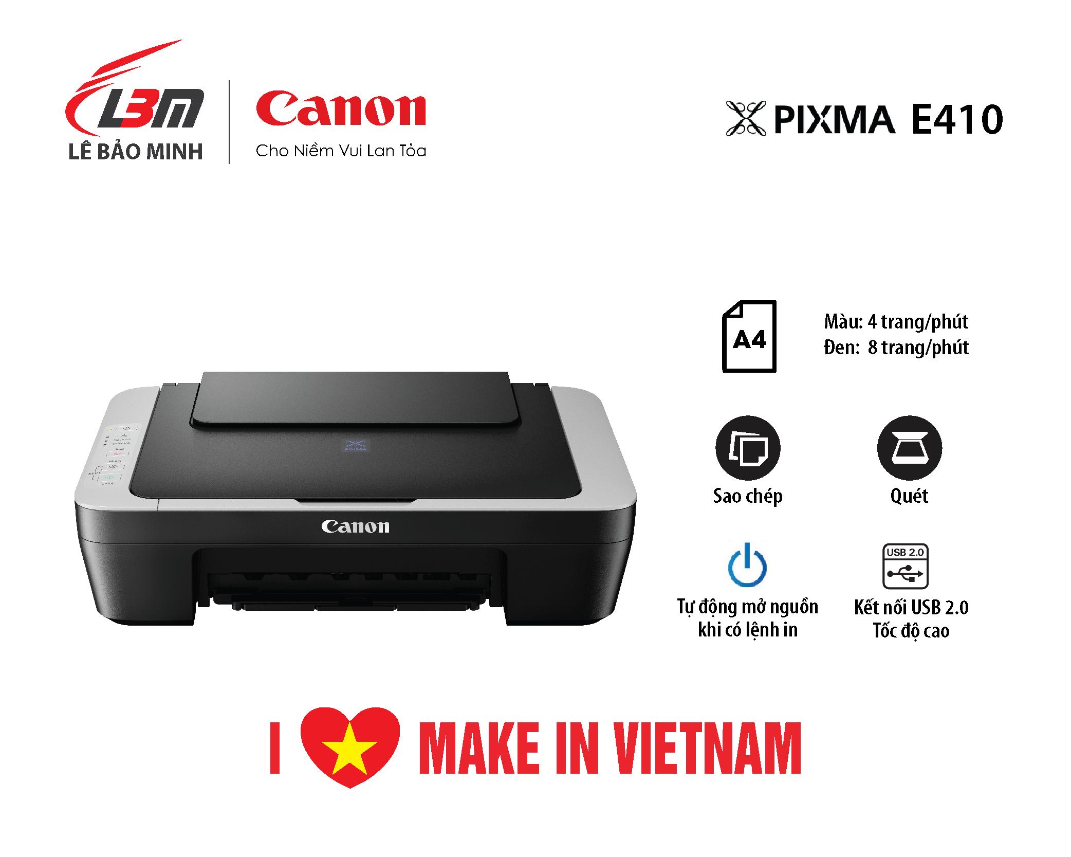 Máy in Phun Canon E410 Đa năng