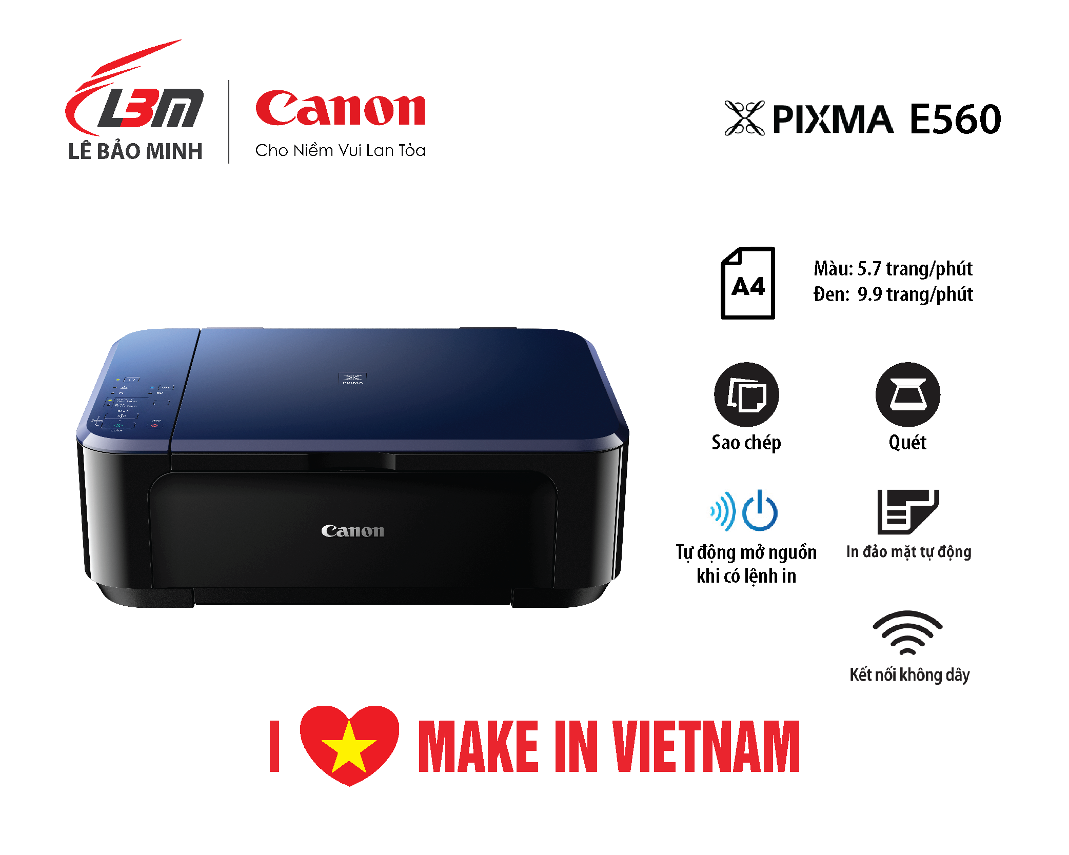 Máy in Phun Canon E560 Đa năng