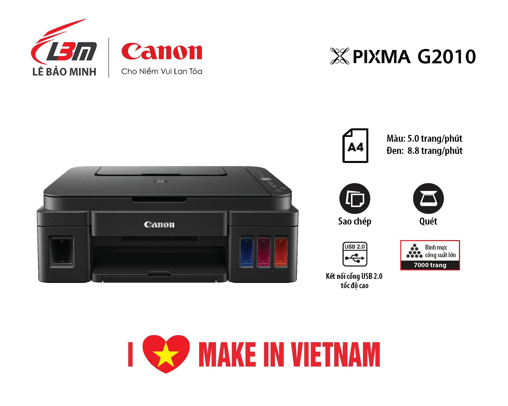 Máy in Phun liên tục Canon G2010 đa năng