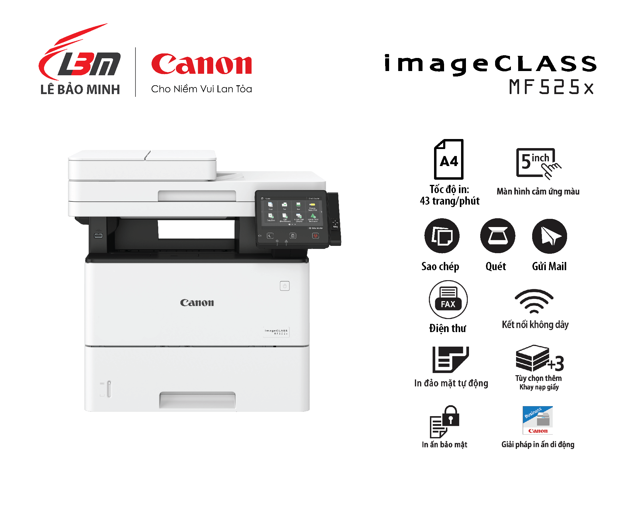 Máy in Canon MF 525x Đa năng (+Fax)