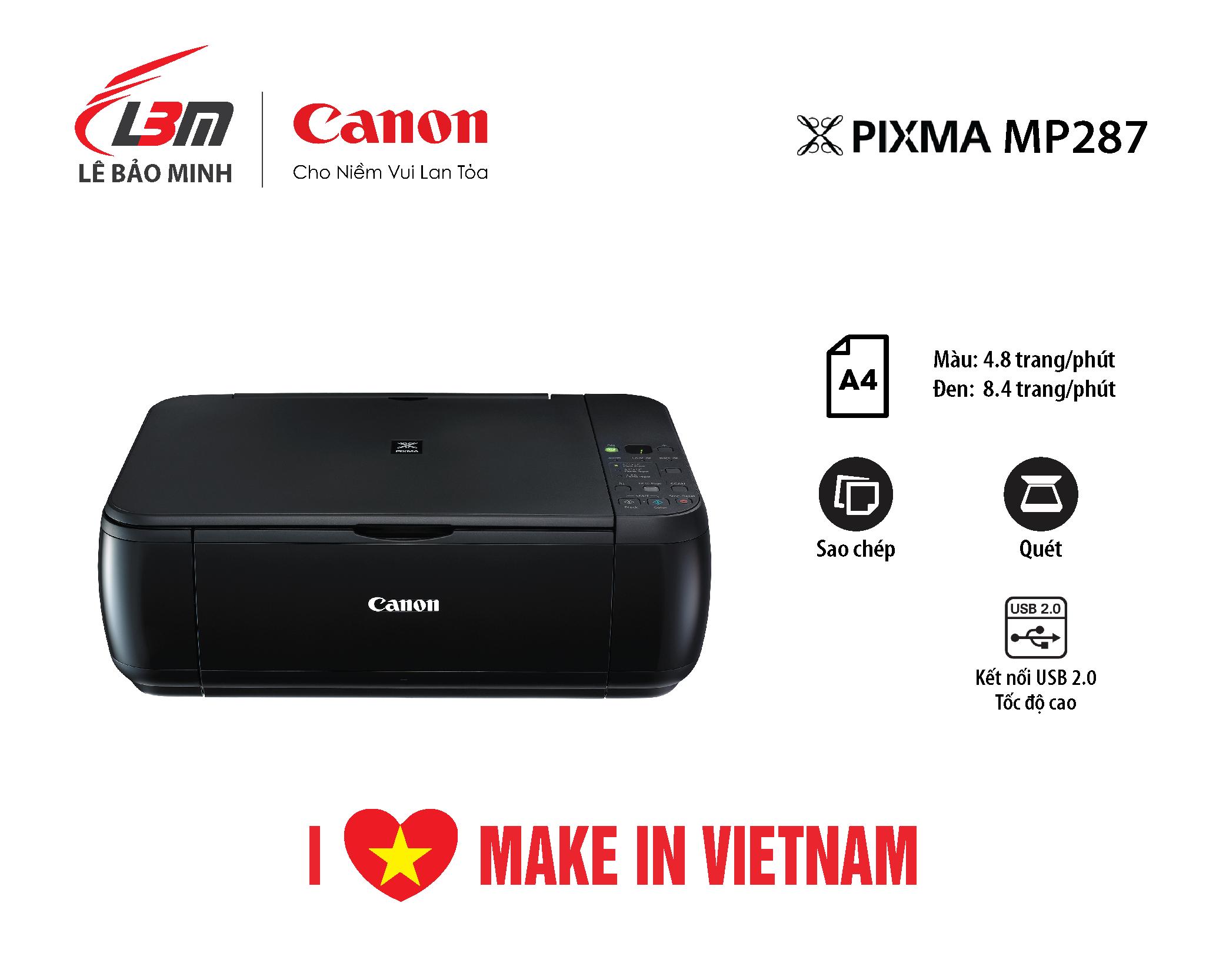 Máy in Phun Canon MP287 đa năng