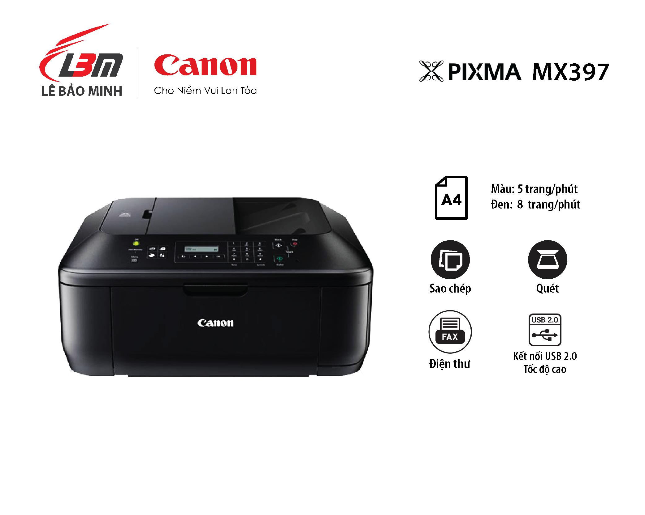 Máy in Phun Canon MX397 Đa năng
