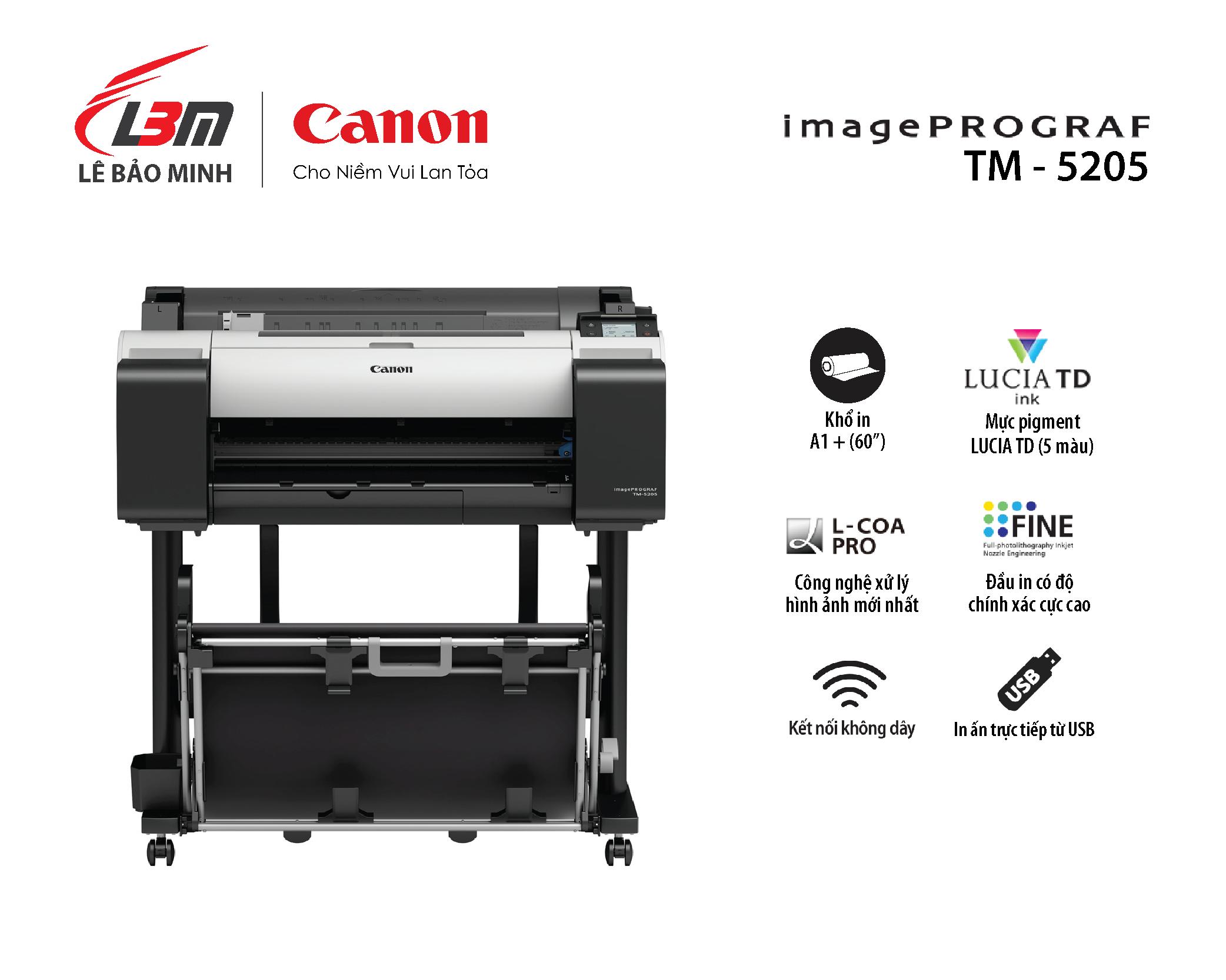 imagePROGRAF TM-5205 (5 màu mực)