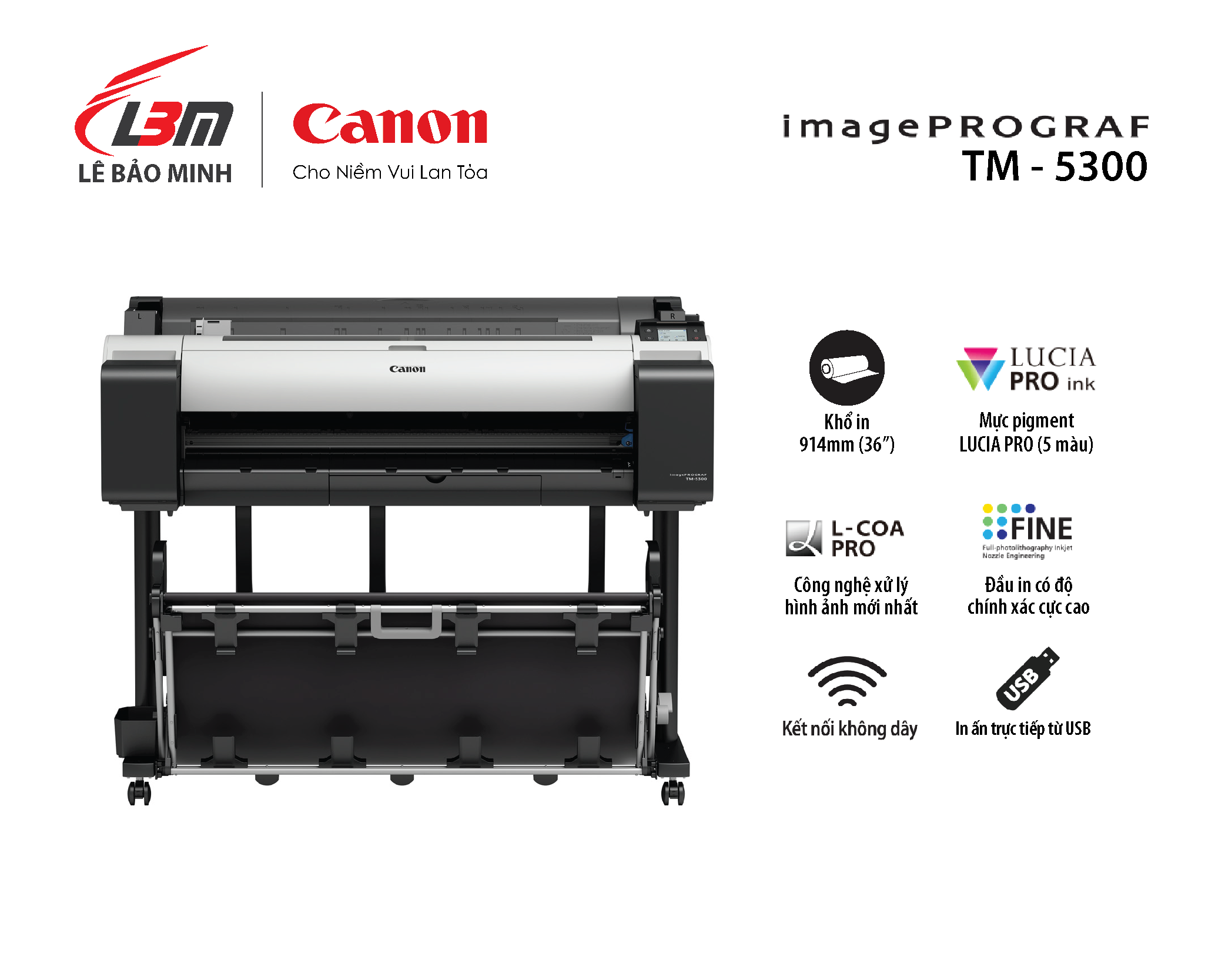 imagePROGRAF TM-5300 (5 màu mực)