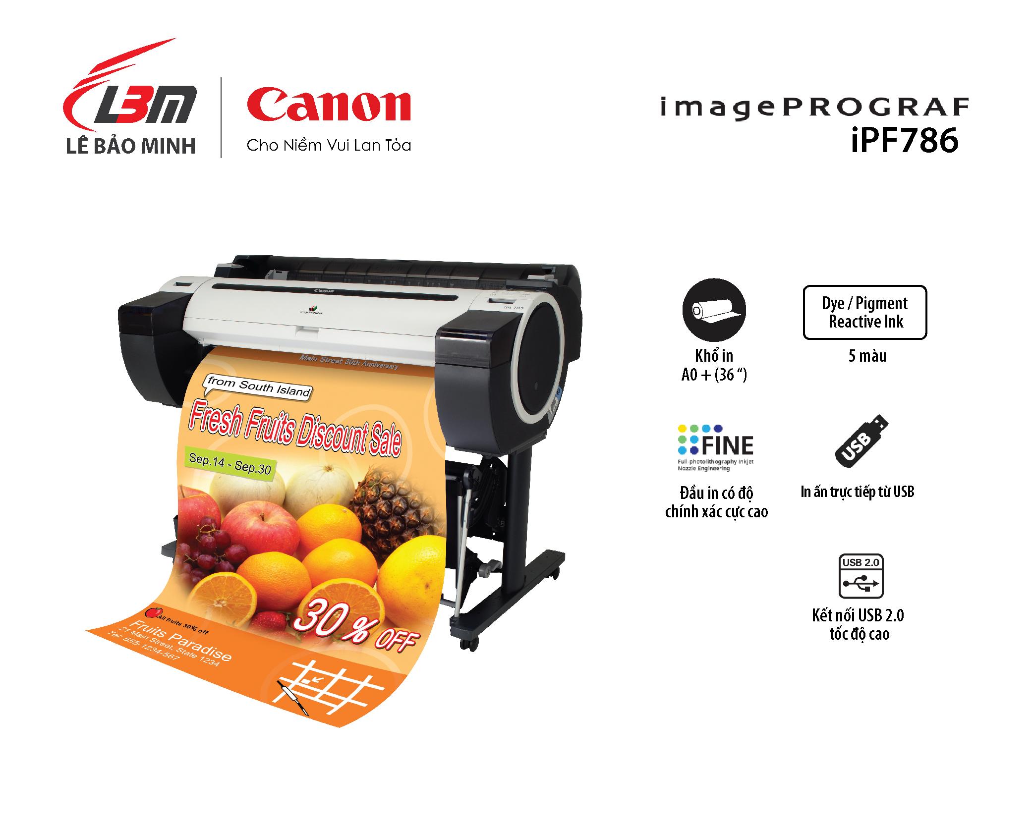 imagePROGRAF iPF786 (5 màu mực)