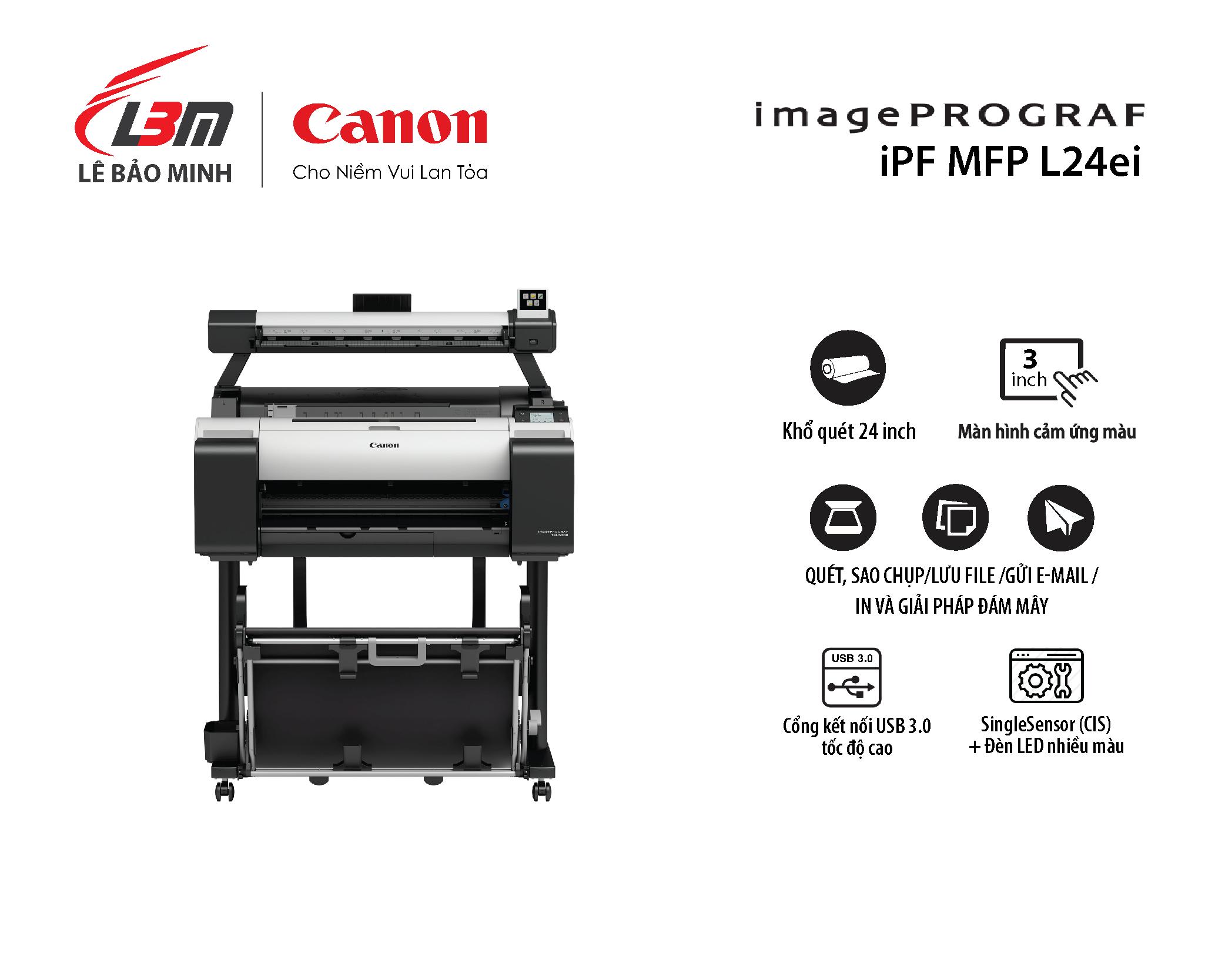 imagePROGRAF iPF MFP L24ei (dùng cho máy TM-5200 / TM-5205)