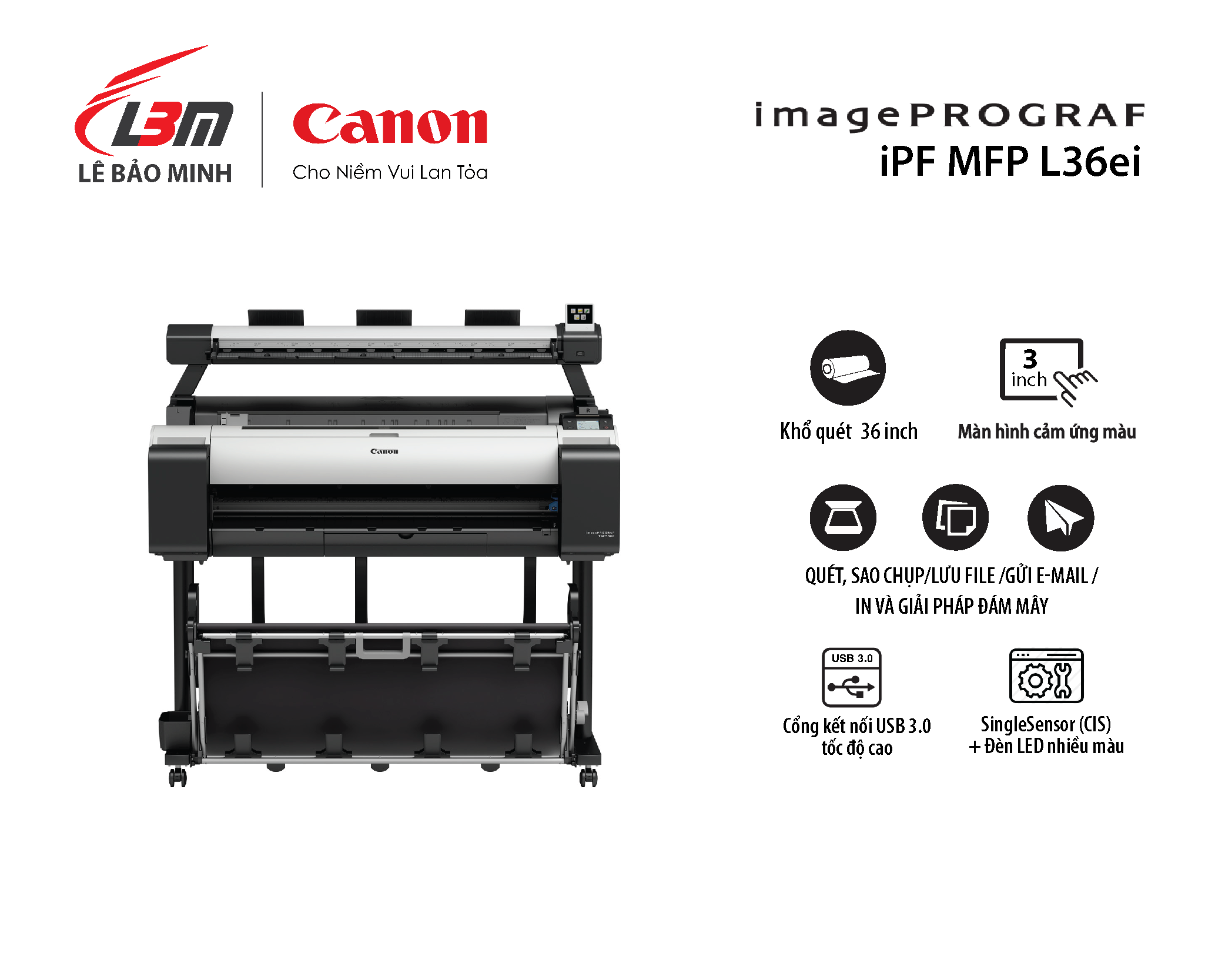 imagePROGRAF iPF MFP L36ei (dùng cho máy TM-5300 / TM-5305)