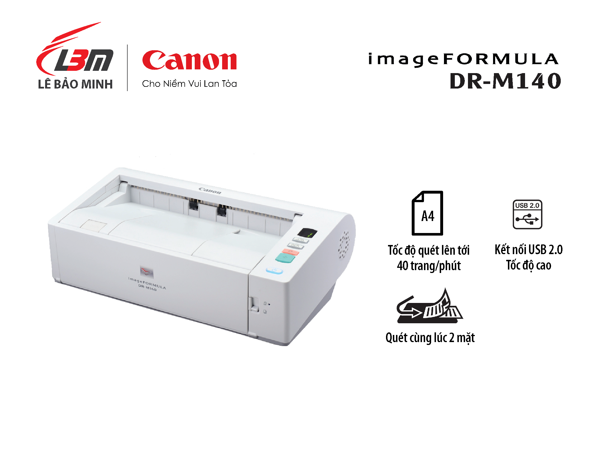 Scan Canon DR M140