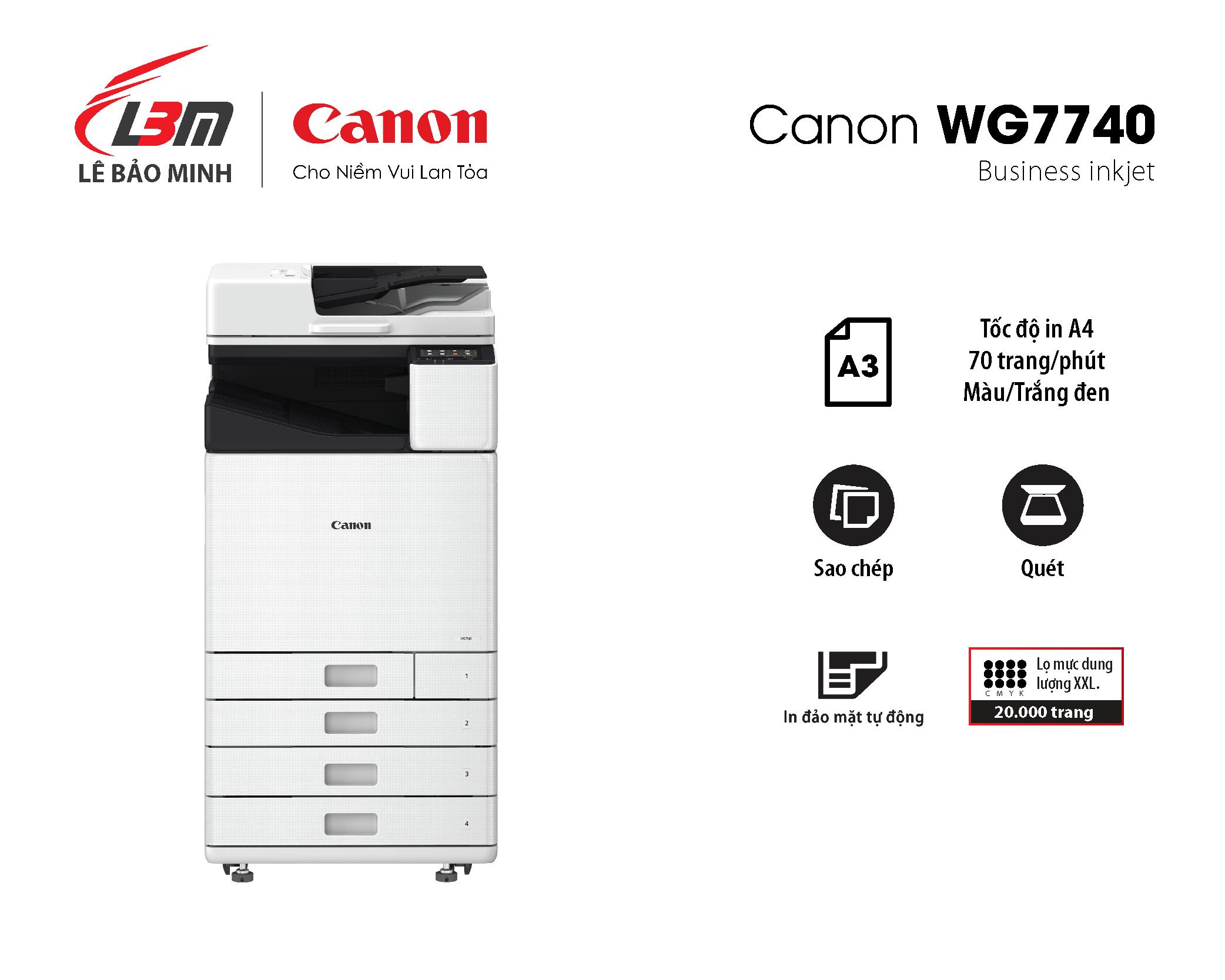 Máy in Phun Canon WG7740 đa năng