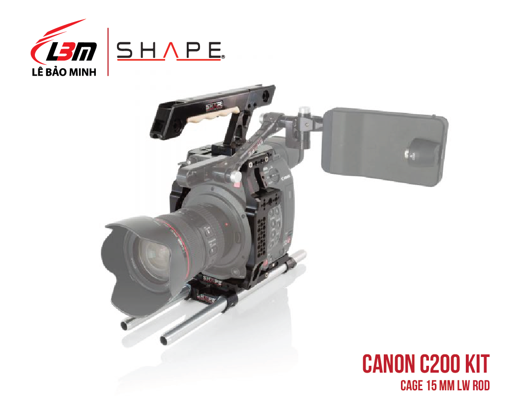 CANON C200 CAGE 15 MM LW ROD
