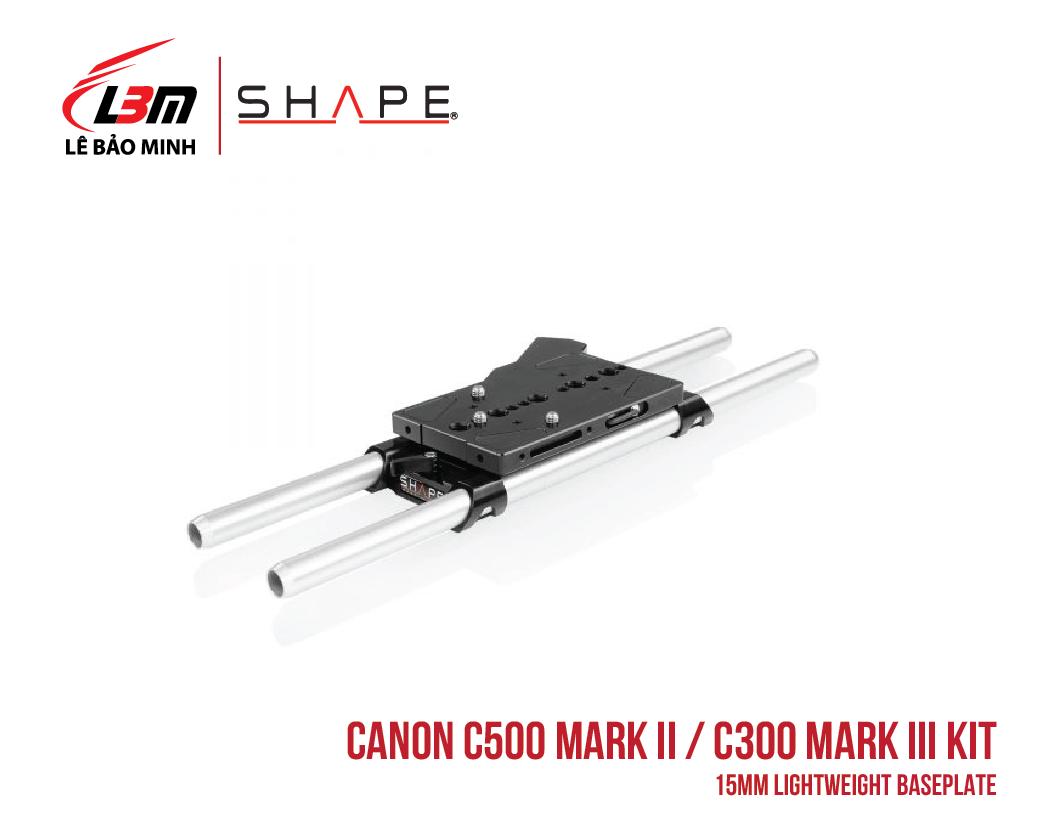 CANON C500 MARK II, C300 MARK III 15MM LIGHTWEIGHT BASEPLATE