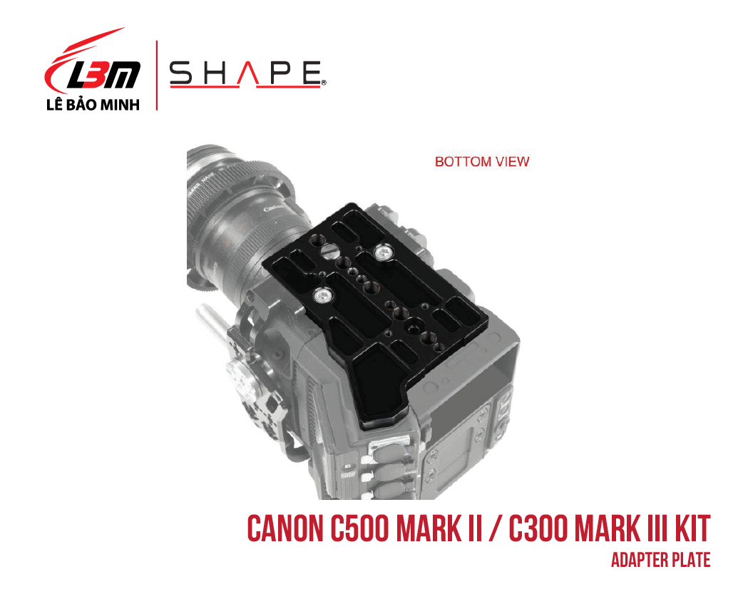 CANON C500 MARK II, C300 MARK III ADAPTER PLATE