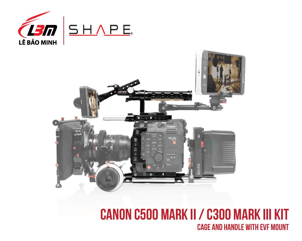 CANON C500 MARK II, C300 MARK III CAGE AND HANDLE WITH EVF MOUNT
