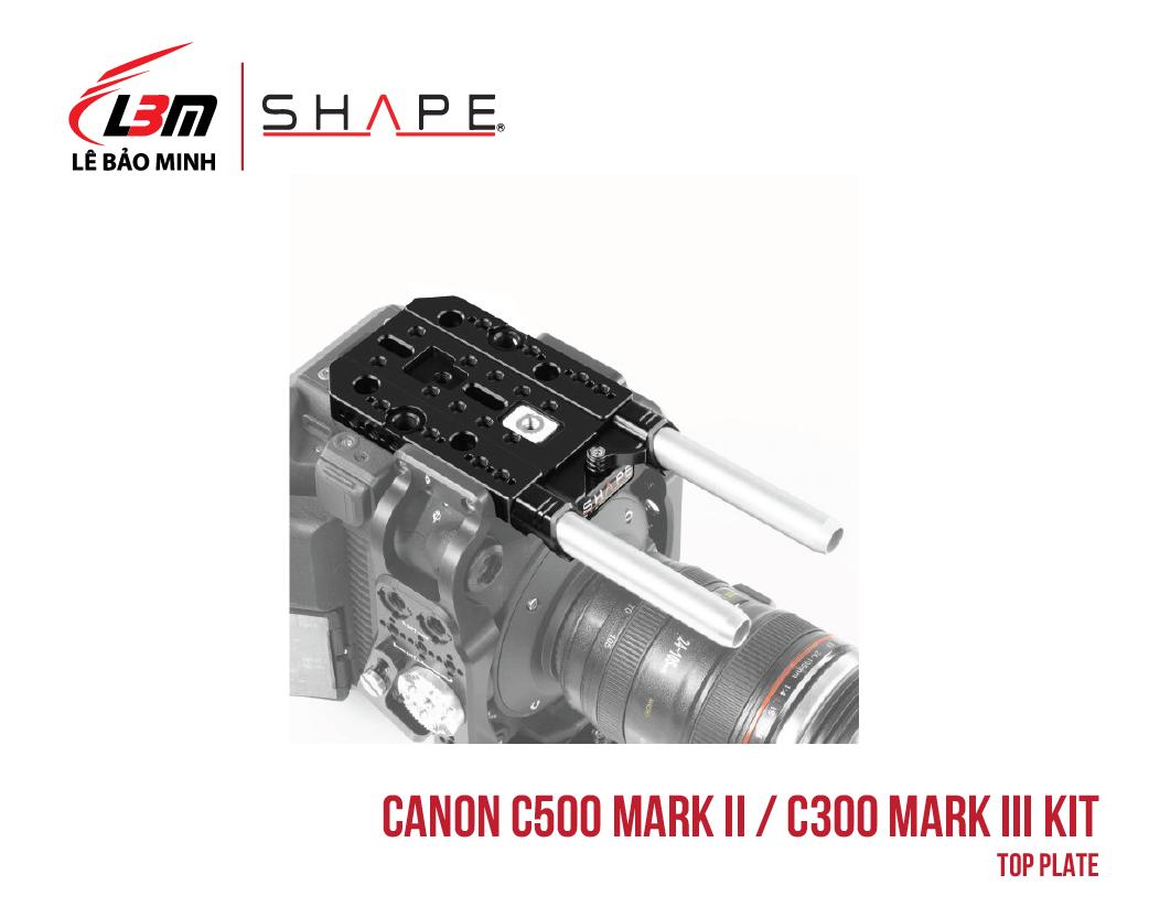 CANON C500 MARK II, C300 MARK III TOP PLATE