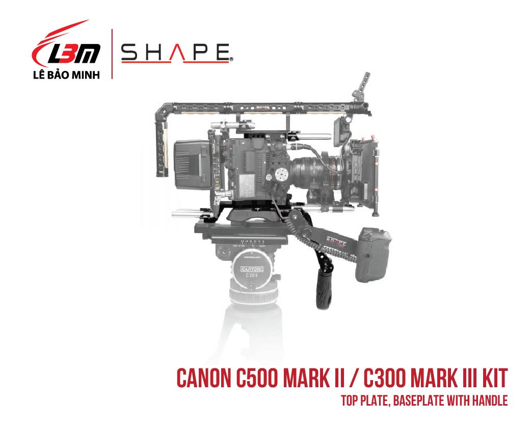 CANON C500 MARK II, C300 MARK III TOP PLATE, BASEPLATE WITH HANDLE