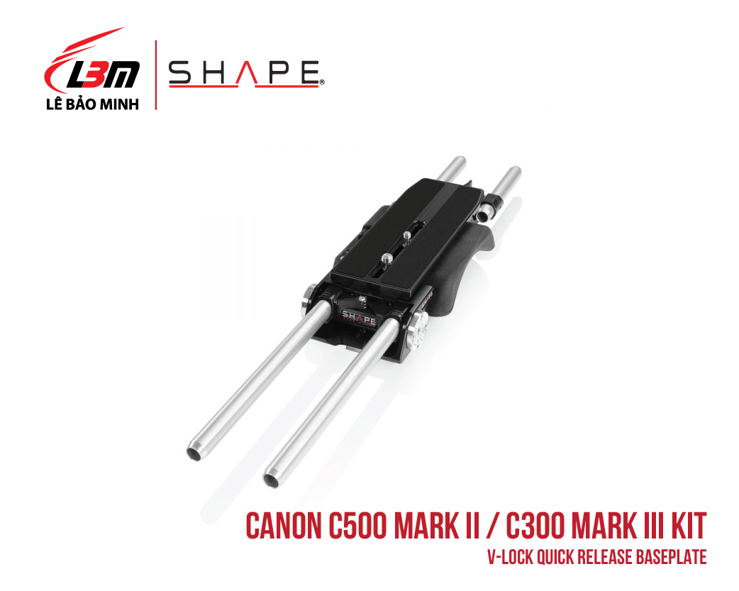 CANON C500 MARK II, C300 MARK III V-LOCK QUICK RELEASE BASEPLATE