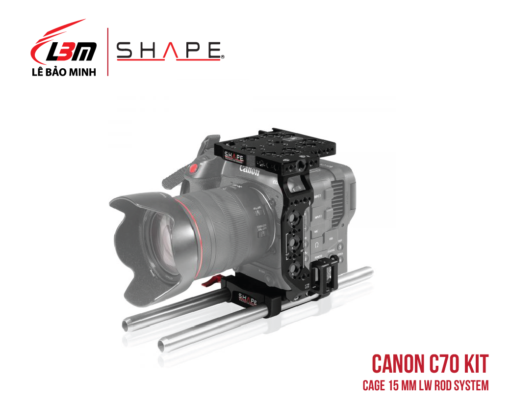 CANON C70 CAGE 15 MM LW ROD SYSTEM