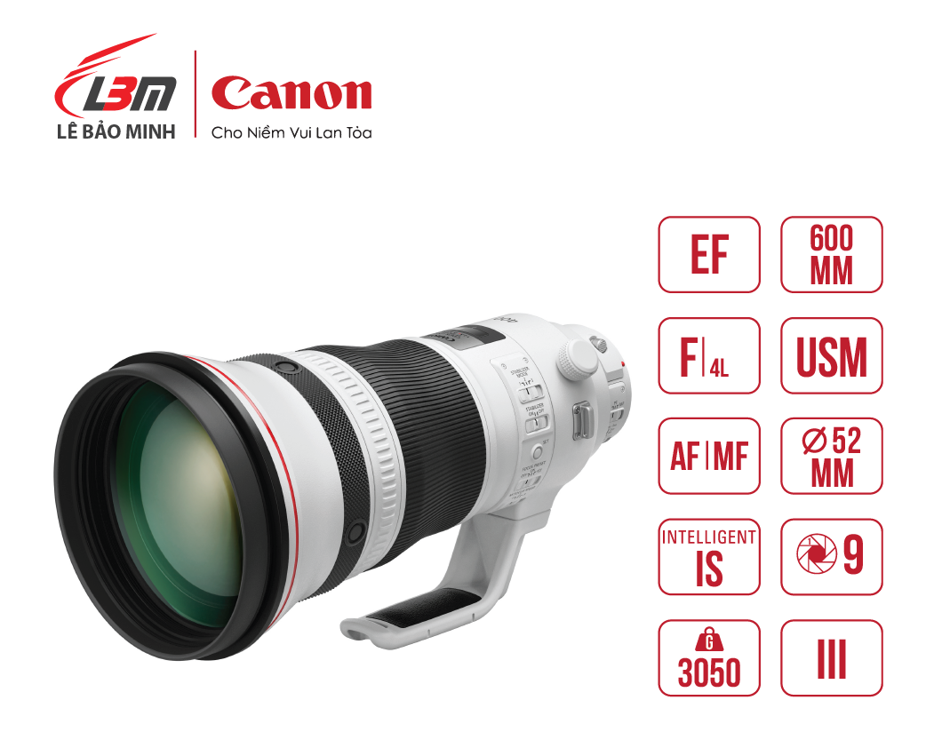 Ống Kính Canon EF 600mm f/4L IS III USM