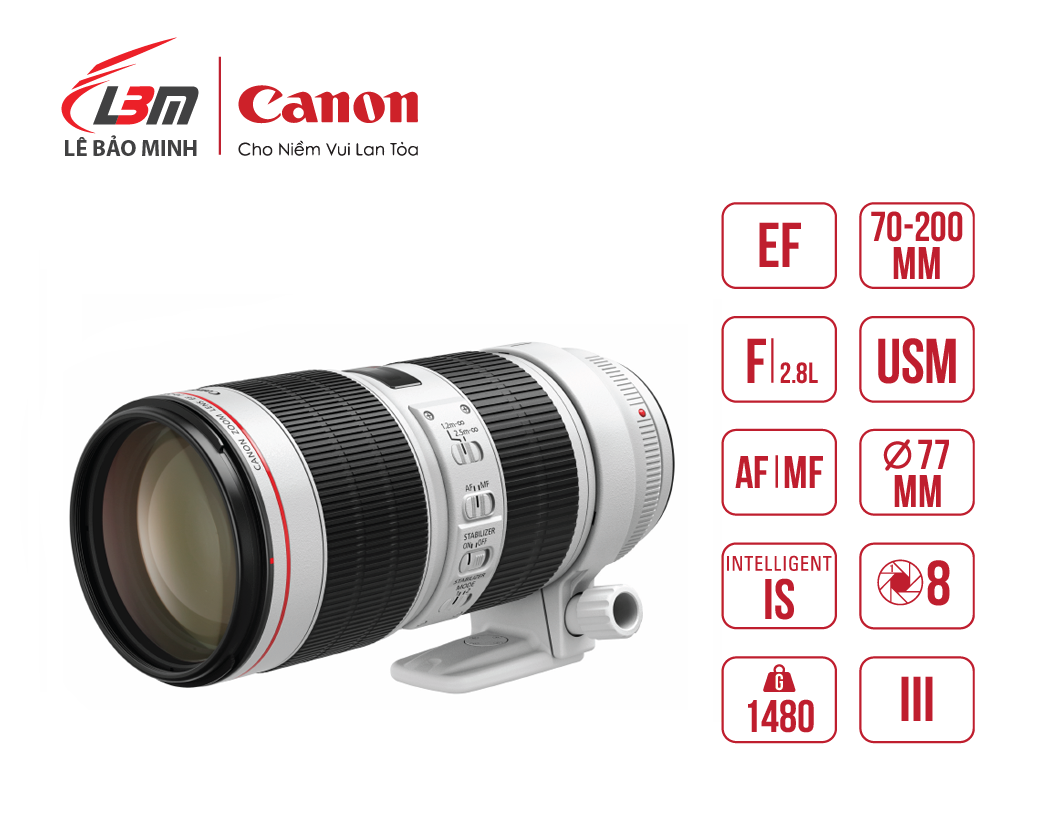 Ống kính Canon EF70-200mm f/2.8L IS III USM