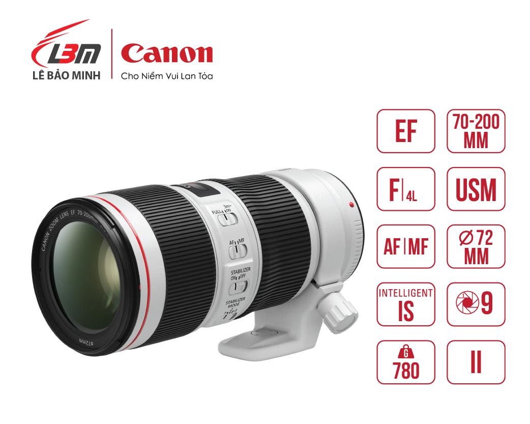 Ống kính Canon EF70-200mm f/4L IS II USM
