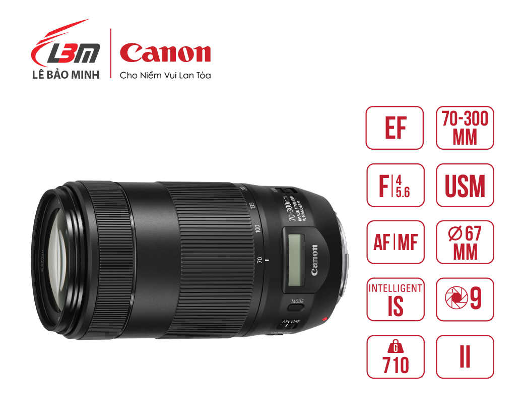 Ống kính Canon EF70-300mm f/4-5.6 IS II USM