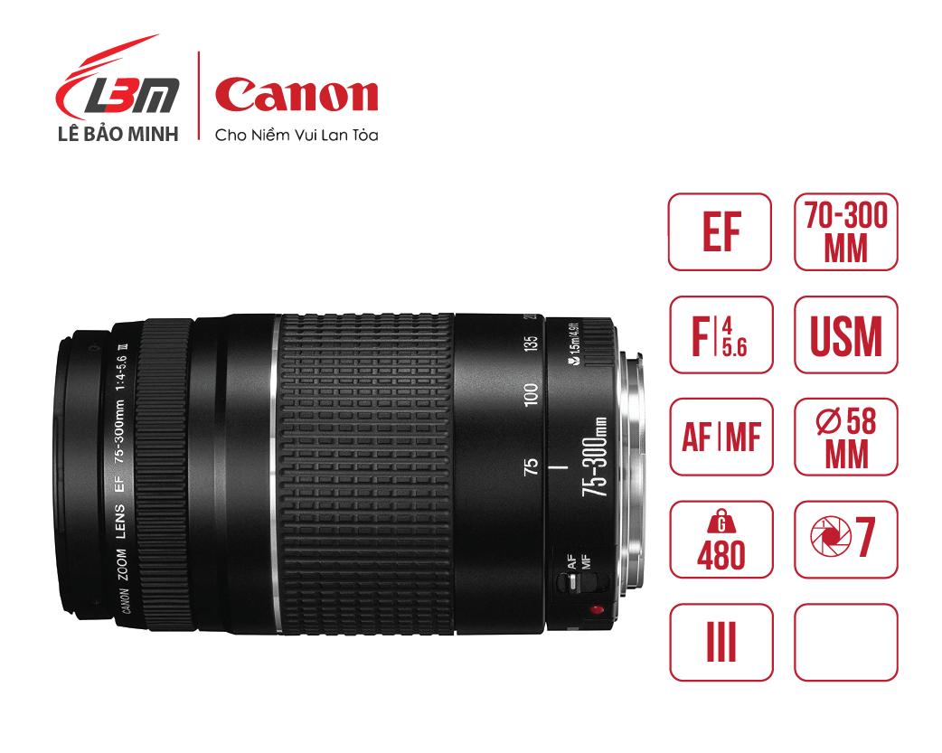 Ống kính EF75-300mm f/4-5.6 III USM