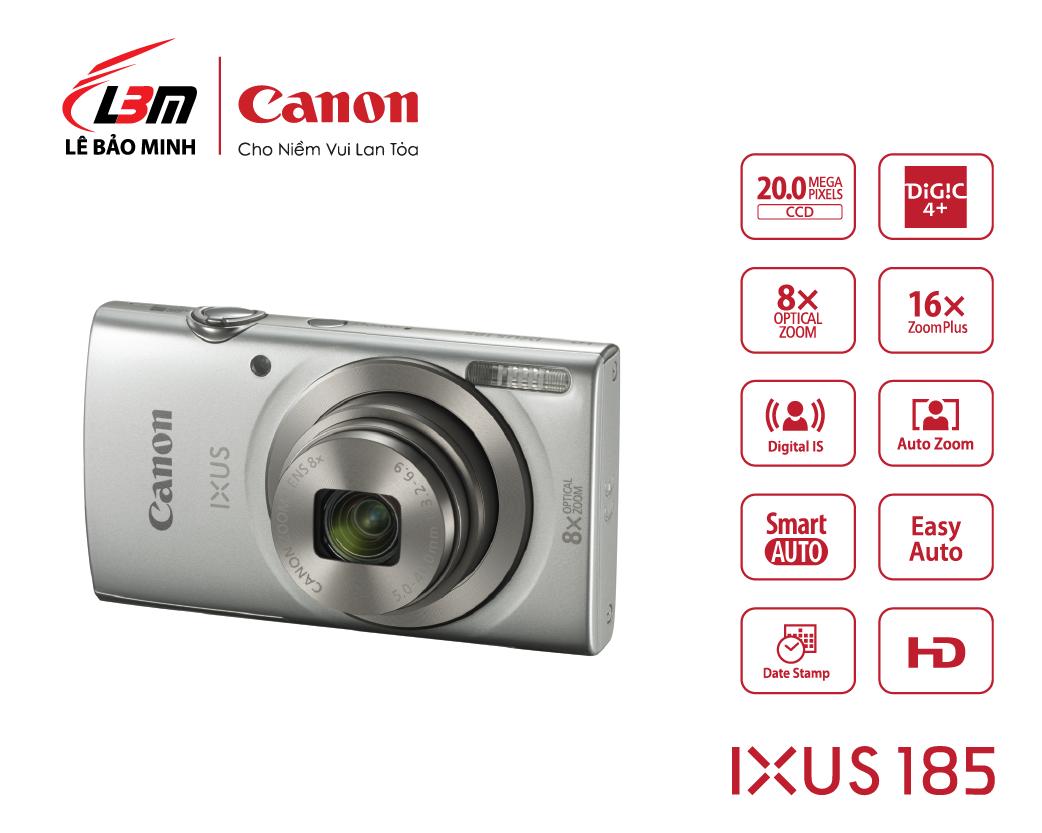 Máy ảnh Canon Ixus 185 (Đen/Đỏ)
