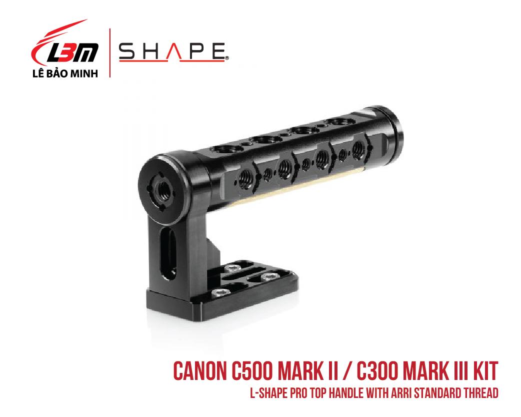 CANON C500 MARK II, C300 MARK III L-SHAPE PRO TOP HANDLE WITH ARRI STANDARD THREAD