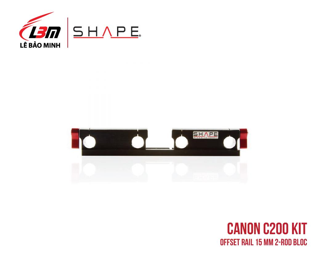 CANON C200 OFFSET RAIL 15 MM 2-ROD BLOC