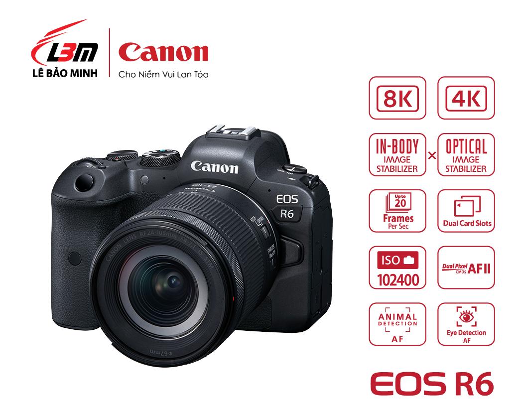 Máy ảnh Canon EOS R6 kit 24-105mm STM
