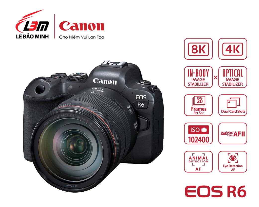 Máy ảnh Canon EOS R6 kit 24-105mm USM