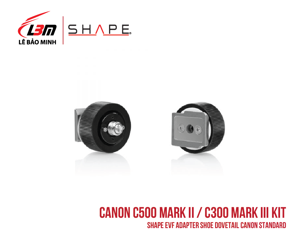 CANON C500 MARK II, C300 MARK III SHAPE EVF ADAPTER SHOE DOVETAIL CANON, SONY STANDARD