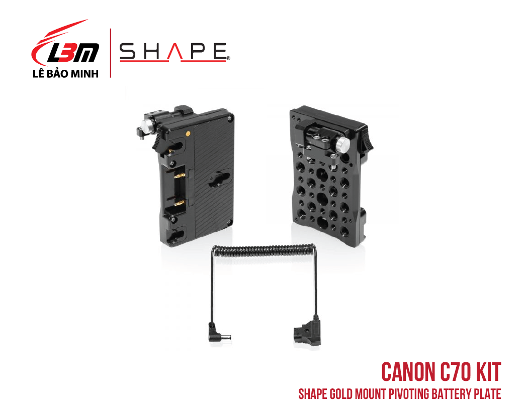 CANON C70 SHAPE GOLD MOUNT PIVOTING BATTERY PLATE