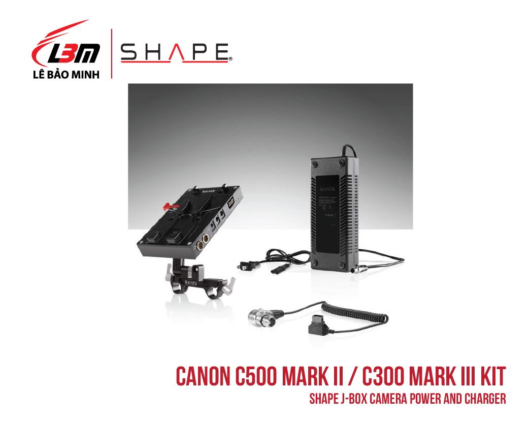 CANON C500 MARK II, C300 MARK III SHAPE J-BOX CAMERA POWER AND CHARGER