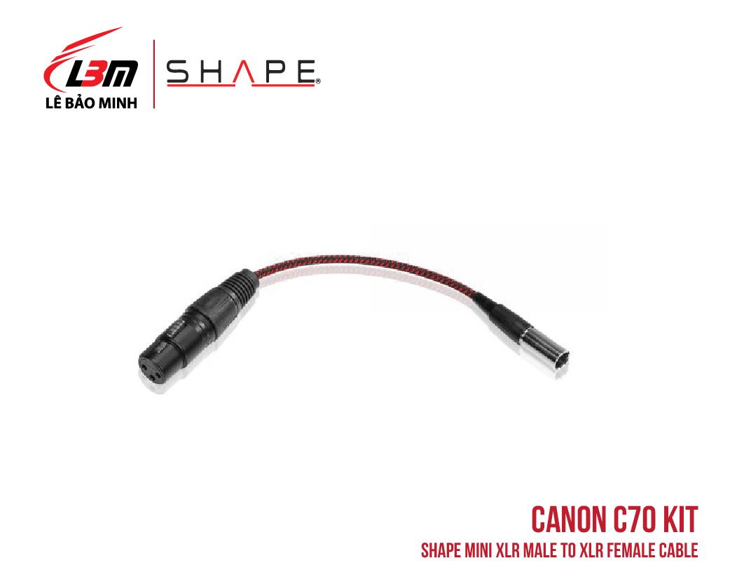 CANON C70 SHAPE MINI XLR MALE TO XLR FEMALE CABLE