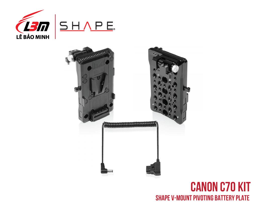 CANON C70 SHAPE V-MOUNT PIVOTING BATTERY PLATE